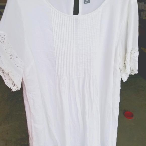 XL Old Navy White Boho Dress